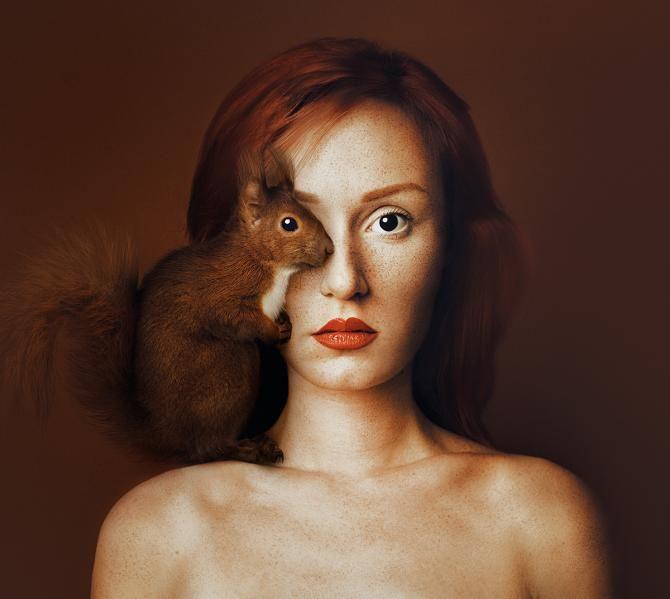 Стань единым целым с животным – уникальный фотопроект от венгерского фотографа 9