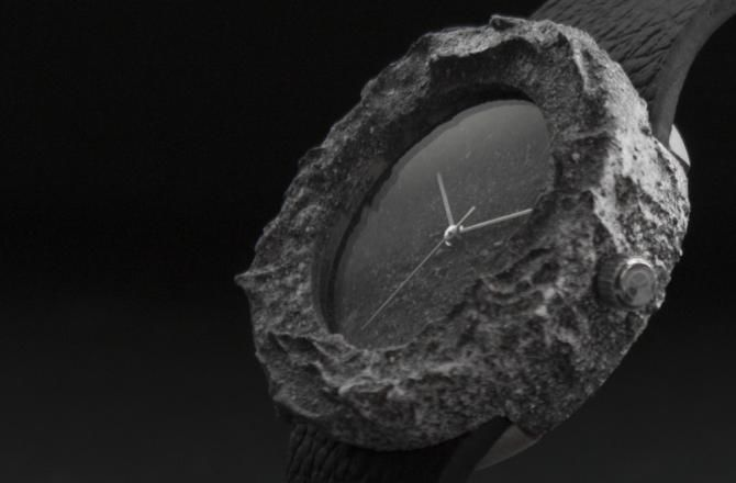 Місячний годинник з цільного шматка натурального місяця