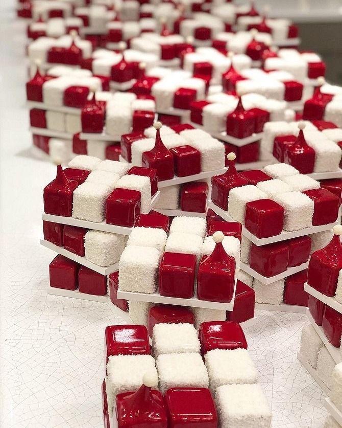 торт в виде кубика рубика