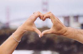 сердечко пальцами