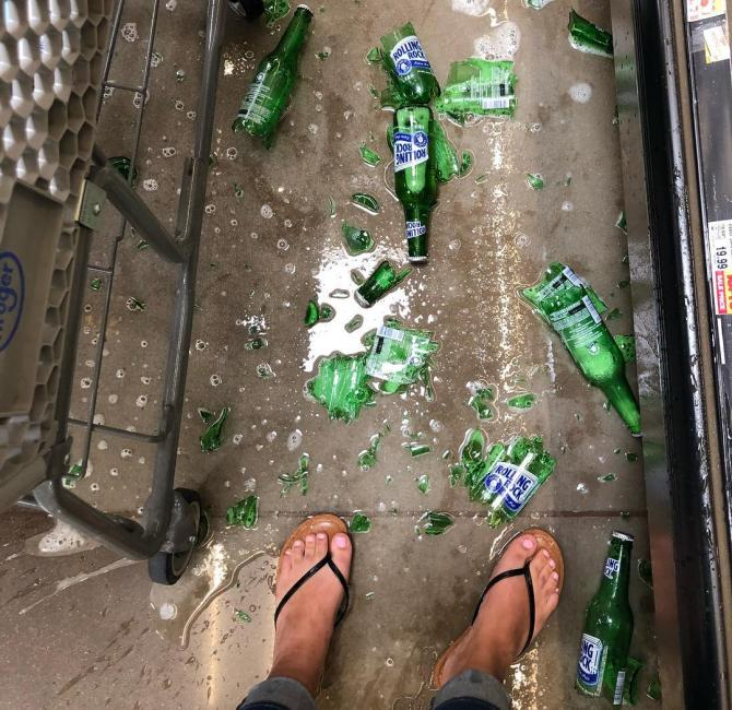 разбитые бутылки