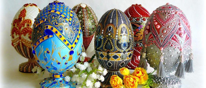 Декоративные пасхальные яйца в качестве сувенира: удивительная красота