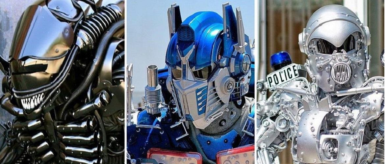 Художник создает впечатляющие костюмы роботов, в которых гуляет по Нью-Йорку