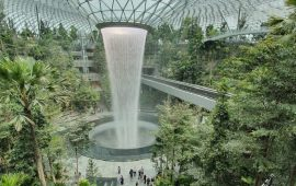 Сады Семирамиды 21 века: в аэропорту Сингапура возродили одно из Семи чудес света