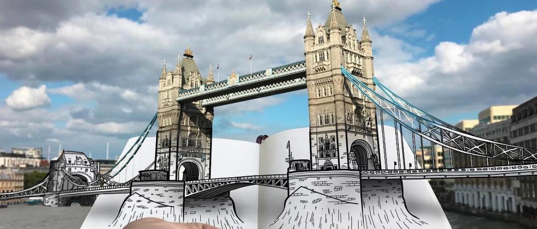 Живые 3D эскизы архитектурных сооружений Пьетро Катауделла
