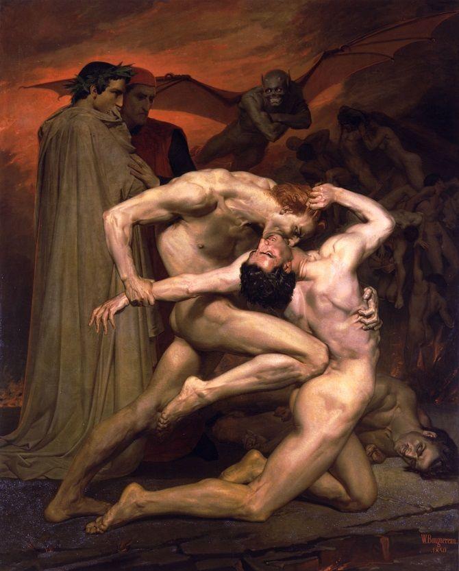 «Данте і Вергілій у пеклі», Вільям Бугро