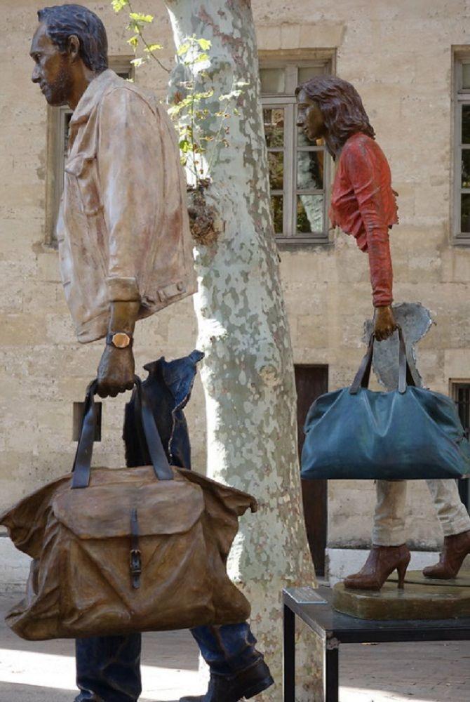 скульптура Путешественники