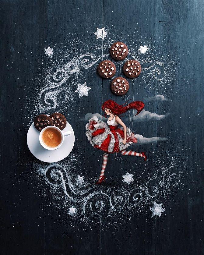 малюнки з кави