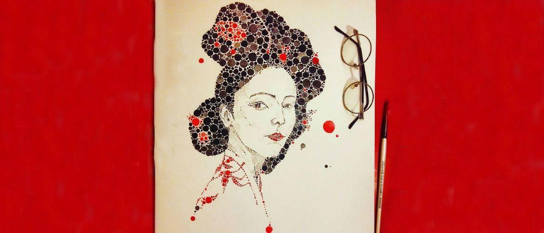 Удивительные рисунки из разноцветных точек, созданные Аной Эншиной