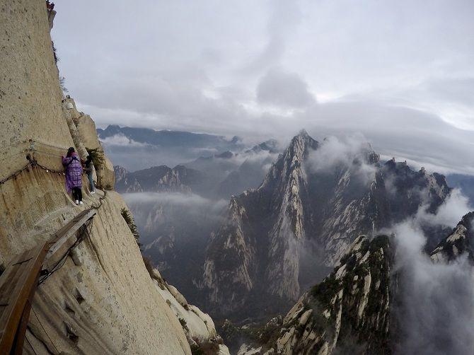 Стежка Смерті на горі Хуашань, Китай.