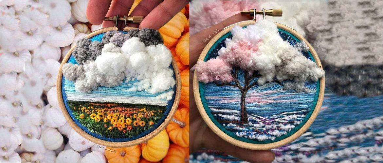 Ниткові пейзажі талановитої художниці Віри Шимберєвої
