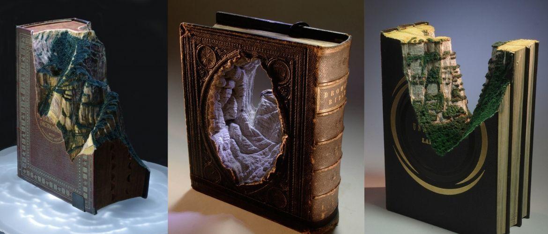Дивовижні книжкові ландшафти від креативного майстра Гая Ларамі