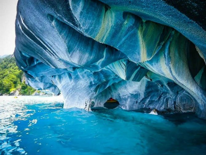 Мармурові печери Патагонії, Чилі