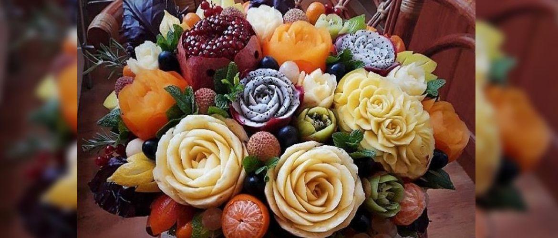Искусство карвинга в фруктово-мясных композициях: новые тренды в фуд-дизайне