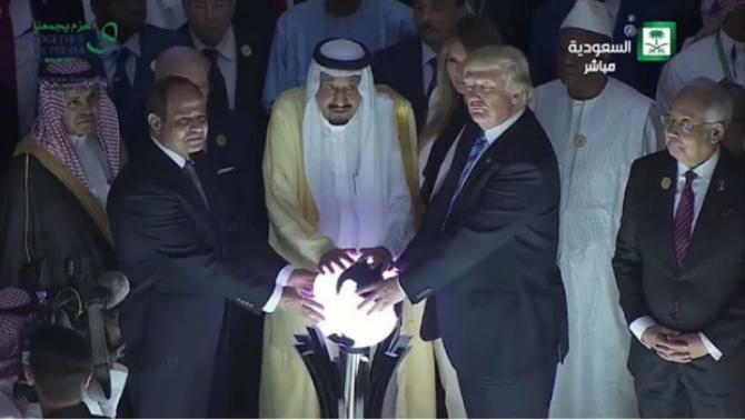 трамп и король саудовской аравии