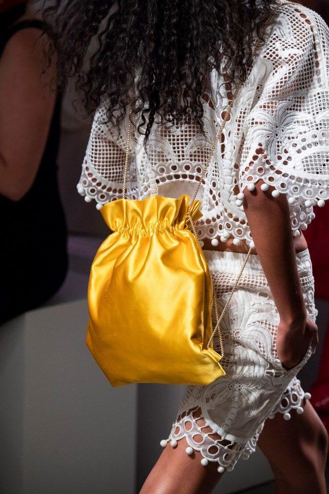 желтая сумка мешок
