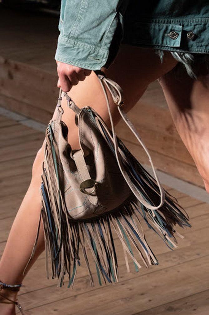 сумка с бахромой