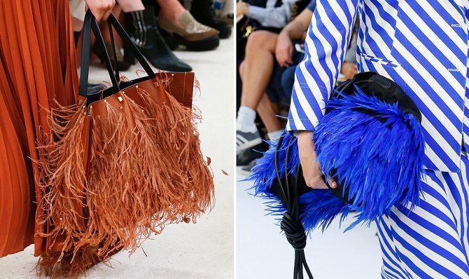 сумки с перьями
