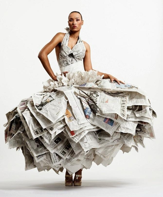 плаття з газети