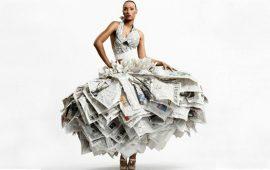 платье из газеты