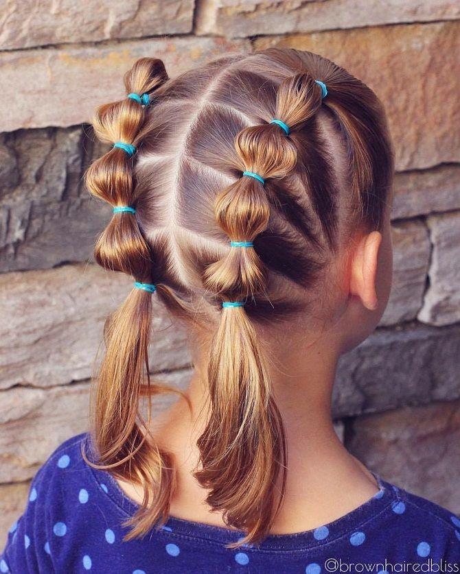 Прості і красиві зачіски дівчинці на 1 вересня 2