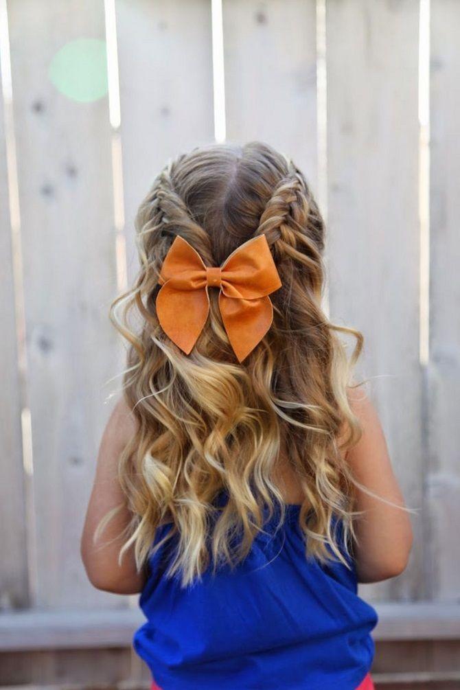 Прості і красиві зачіски дівчинці на 1 вересня 16