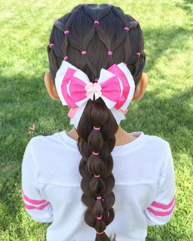 Найкрасивіші зачіски з бантами на 1 вересня 13