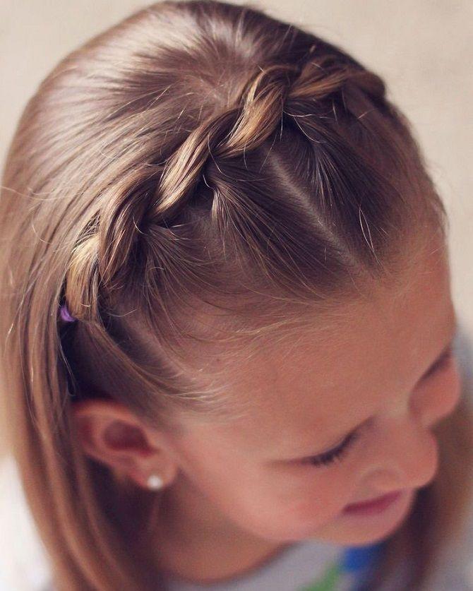 Прості і красиві зачіски дівчинці на 1 вересня 1