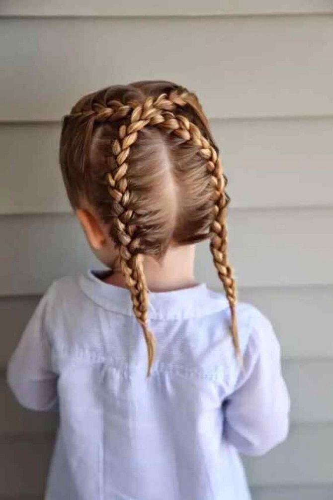 Прості і красиві зачіски дівчинці на 1 вересня 9