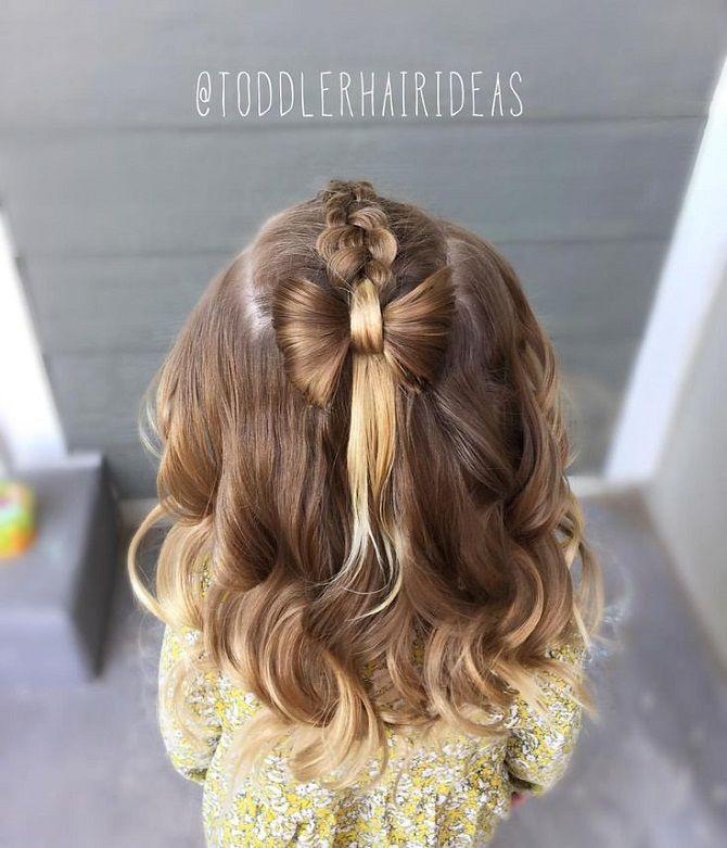 Прості і красиві зачіски дівчинці на 1 вересня 12