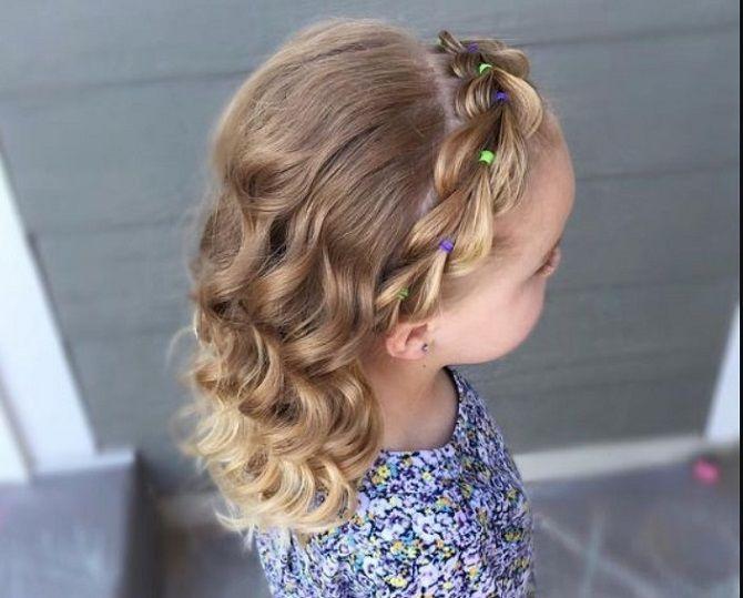 Прості і красиві зачіски дівчинці на 1 вересня 13