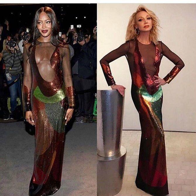 Модна битва суконь: зірки, які вийшли в світ в однаковому вбранні 12
