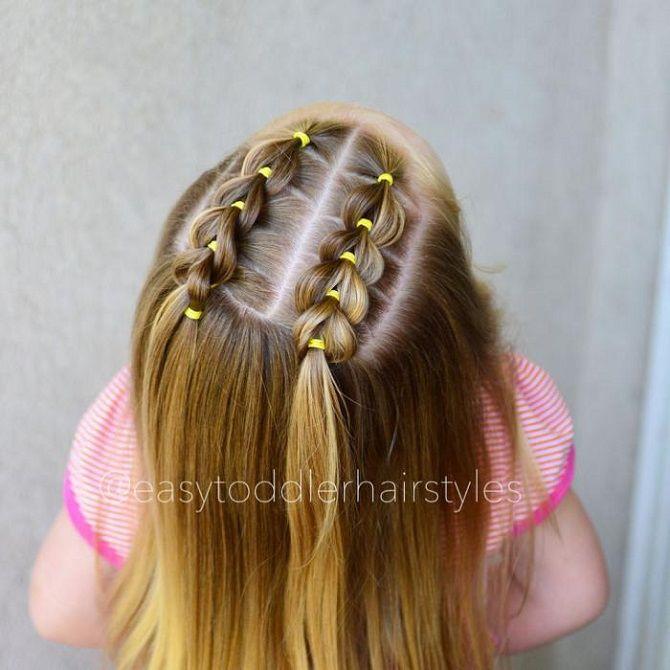 Прості і красиві зачіски дівчинці на 1 вересня 17
