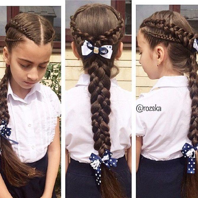 Найкрасивіші зачіски з бантами на 1 вересня 14