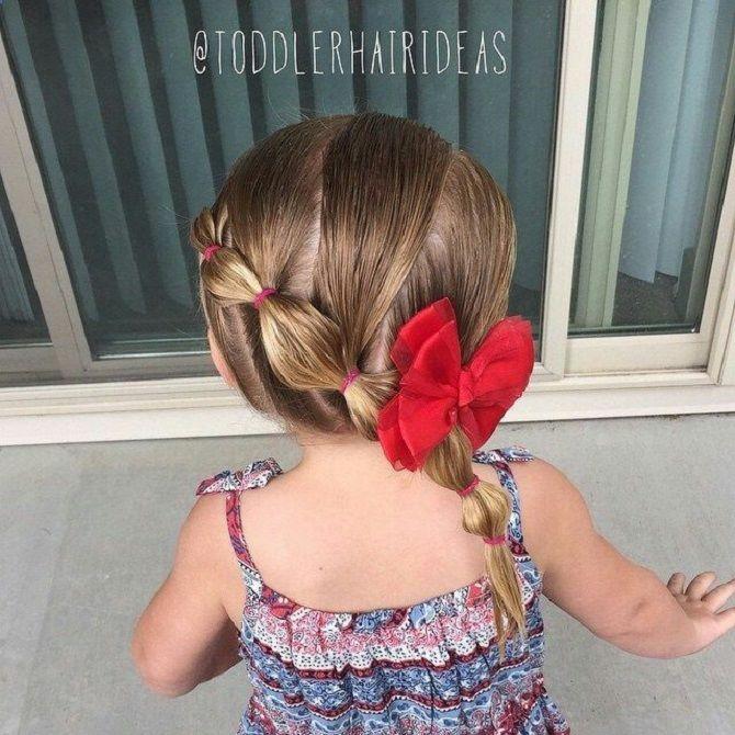 Прості і красиві зачіски дівчинці на 1 вересня 18