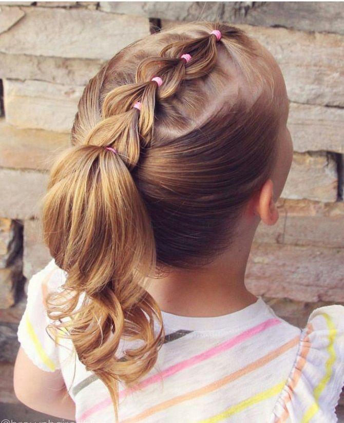 Прості і красиві зачіски дівчинці на 1 вересня 19