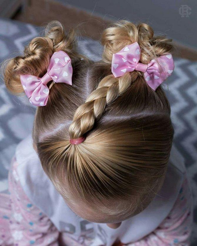 Прості і красиві зачіски дівчинці на 1 вересня 21