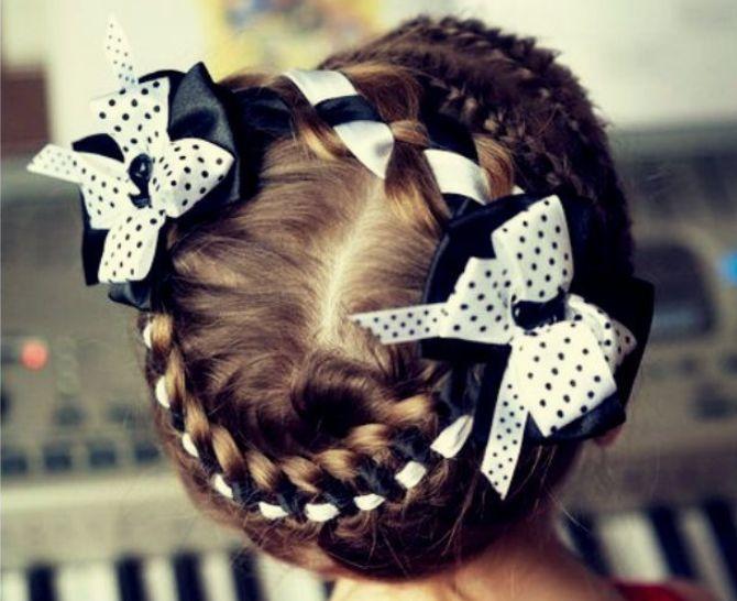 Найкрасивіші зачіски з бантами на 1 вересня 18