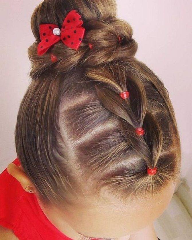 Прості і красиві зачіски дівчинці на 1 вересня 22