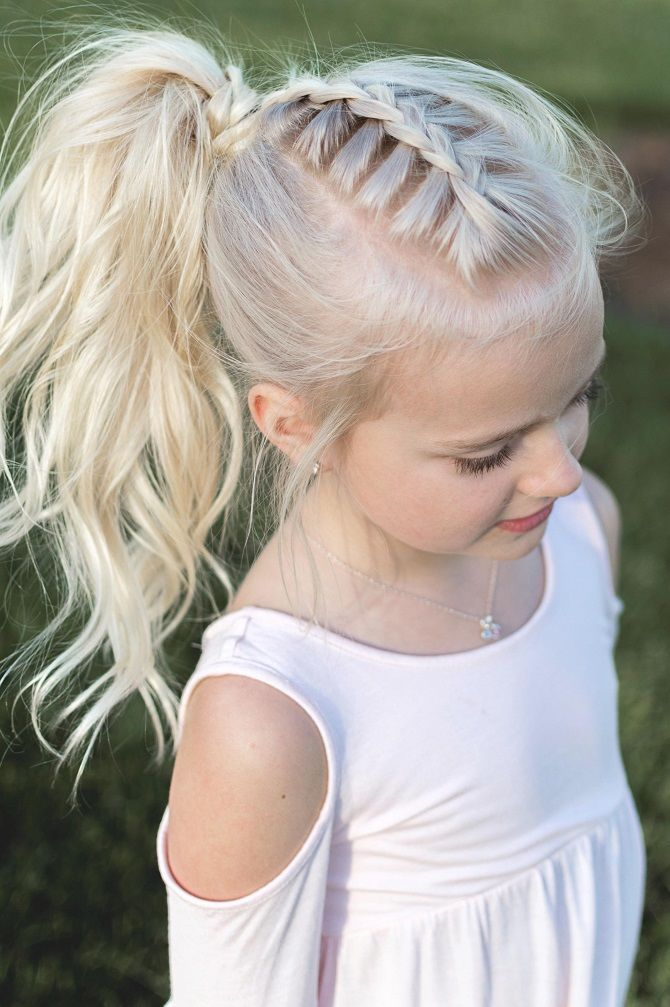 Прості і красиві зачіски дівчинці на 1 вересня 24