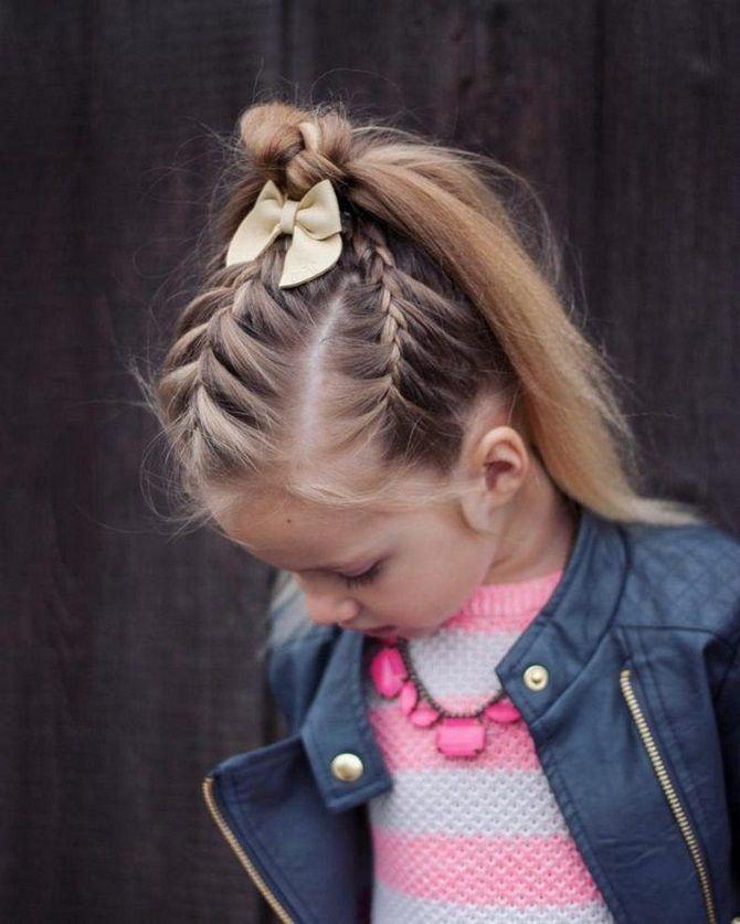Прості і красиві зачіски дівчинці на 1 вересня 25