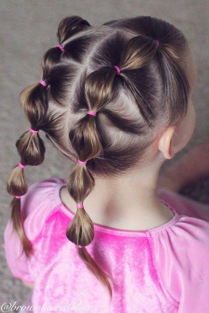 Прості і красиві зачіски дівчинці на 1 вересня 3