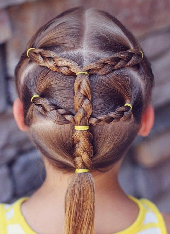 Прості і красиві зачіски дівчинці на 1 вересня 23