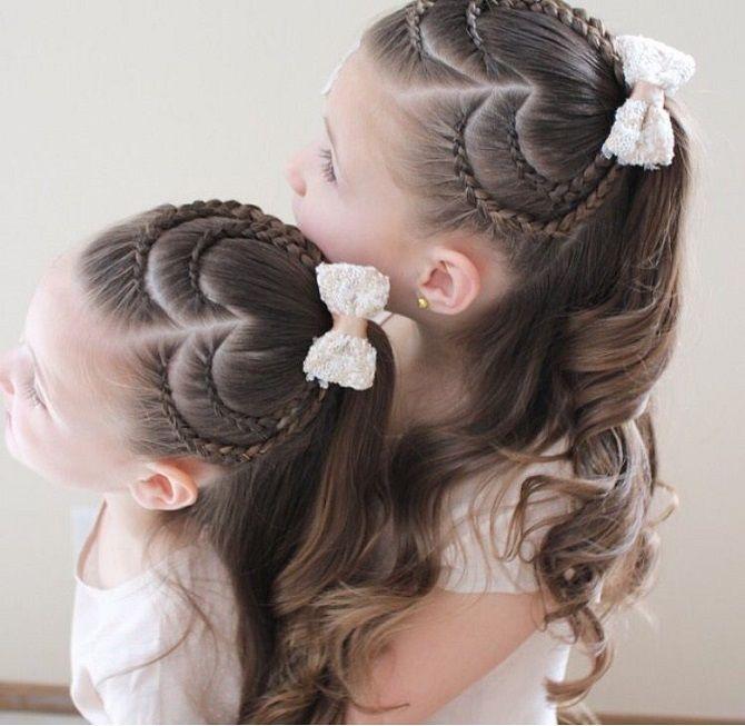 Простые и красивые прически для девочек на 1 сентября 26