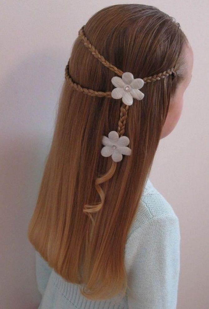 Прості і красиві зачіски дівчинці на 1 вересня 32