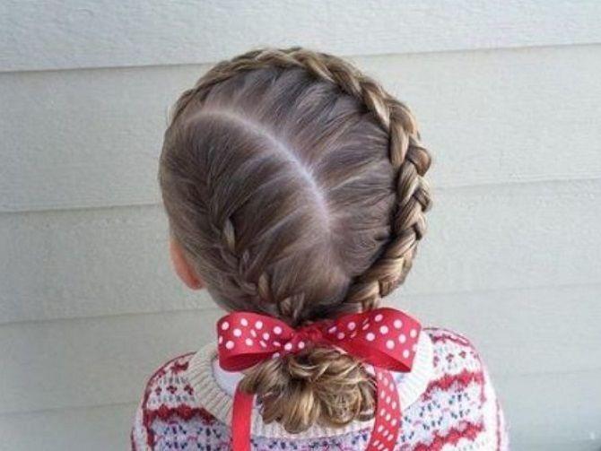 Прості і красиві зачіски дівчинці на 1 вересня 28