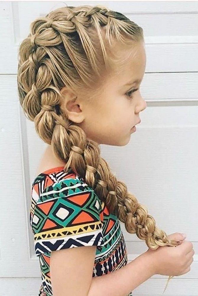 Прості і красиві зачіски дівчинці на 1 вересня 29