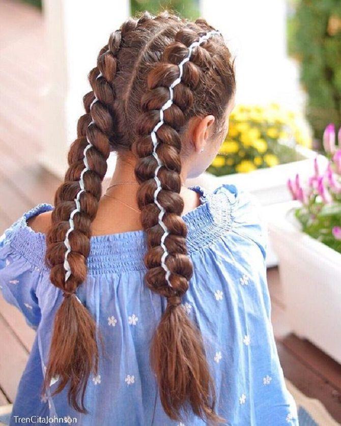 Прості і красиві зачіски дівчинці на 1 вересня 30