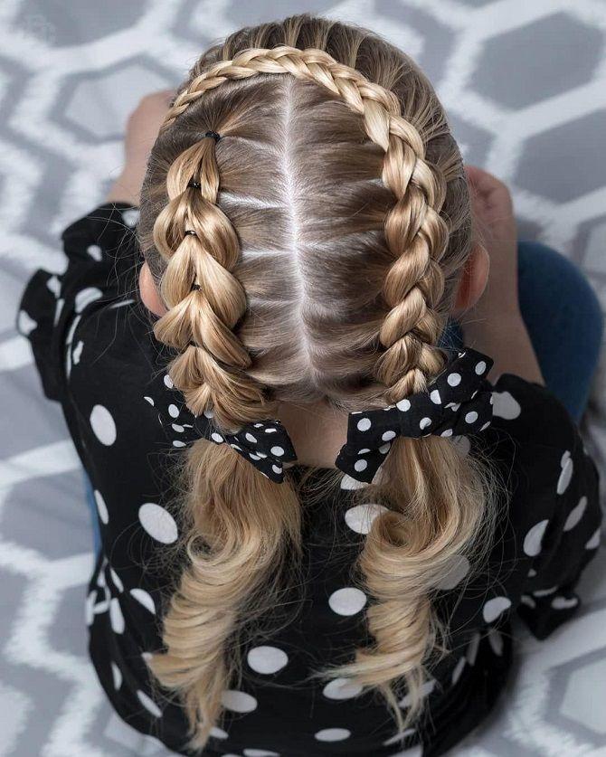 Прості і красиві зачіски дівчинці на 1 вересня 31
