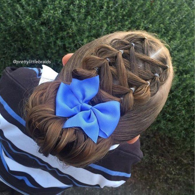 Найкрасивіші зачіски з бантами на 1 вересня 3